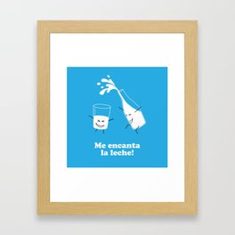Leche Framed Art Print