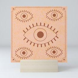 Retro Evil Eye II Mini Art Print