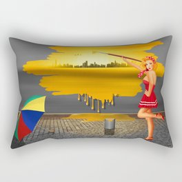 An artist paints his life colorful Rectangular Pillow