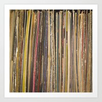 records Art Prints featuring Records by Cassia Beck