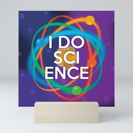 I DO SCIENCE Mini Art Print
