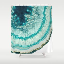 On the edge of an icy agate abyss Shower Curtain