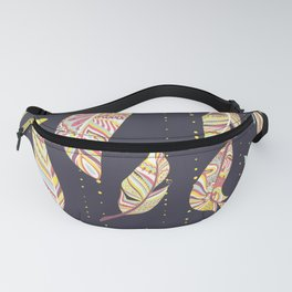 Feathers pattern abstract ornament Patrón de plumas ornamento abstracto Abstrakte Federmusters Fanny Pack