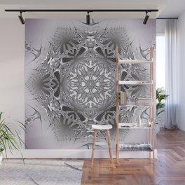 Ice crystal mandala Wall Mural