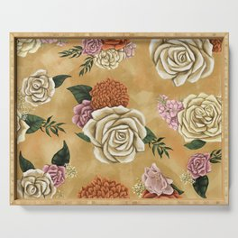 Gold luxury floral Serving Tray