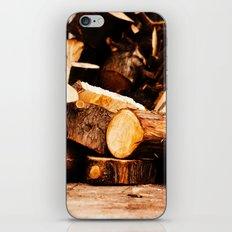 Chopped Wood iPhone & iPod Skin