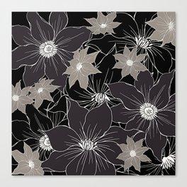 Floral pattern #design #illustration Canvas Print