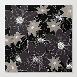 Floral pattern #design #illustration Canvas Print