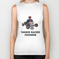rushmore Biker Tanks featuring YANKEE RACERS FOUNDER (Rushmore, 1998) by Tom Ralston