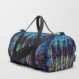 Horses Roaming Free Painting Duffle Bag