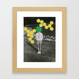 Little Atom Framed Art Print