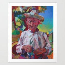 """Herder with Prayer Beads"" Art Print"