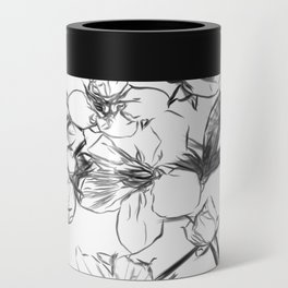 Cherry Blossoms Minimal Drawing Can Cooler