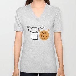 Hi Hi milk and cookie Unisex V-Neck