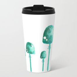 Green Mushrooms Travel Mug