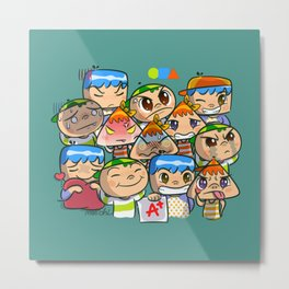 character of sticker line Metal Print