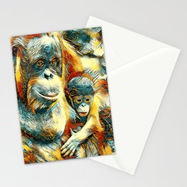 AnimalArt_OrangUtan_20170910_by_JAMColorsSpecial Stationery Cards