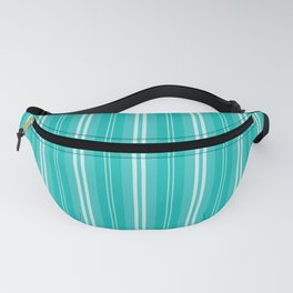 Aqua Blue Shades Pinstripes Fanny Pack