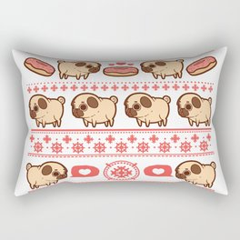 Puglie Christmas Sweater (Red) Rectangular Pillow