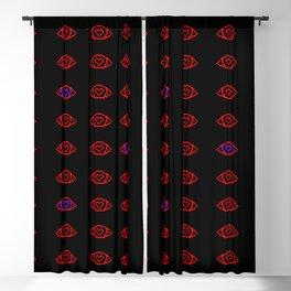Pixel Eyes Blackout Curtain