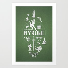 Welcome To Hyrule Art Print