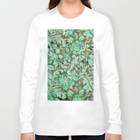 flower pattern Long Sleeve T-shirts featuring Flower pattern by nicky2342