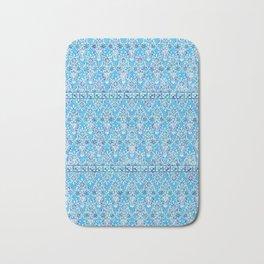 sarasa floral in azure Bath Mat