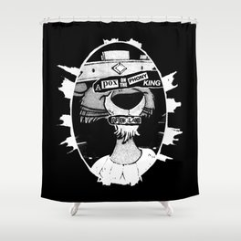 A pox on the phony king of England Shower Curtain
