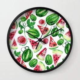Wild watermelon Wall Clock