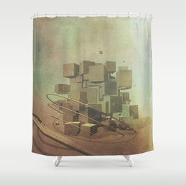 Intervention 19 Shower Curtain