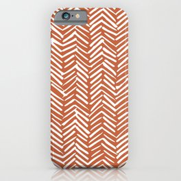 Boho, Herringbone, Mudcloth, Terracotta iPhone Case