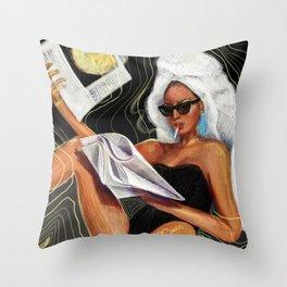 Evening Hot News Throw Pillow