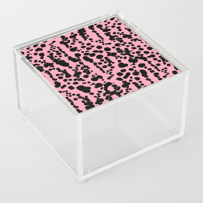 Pink and Black Dalmatian Acrylic Box
