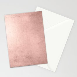 Blush Rose Gold Ombre Stationery Cards