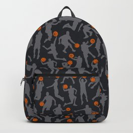 Basketball Player Pattern BLACK Backpack