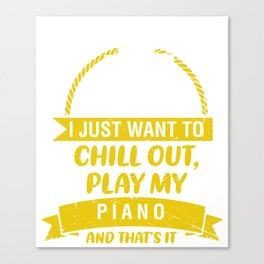 Piano Pianist Classical Music Music Teacher Canvas Print