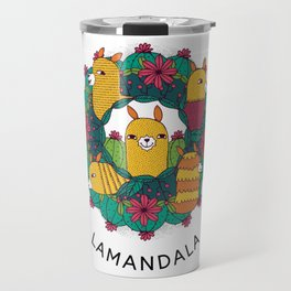 Mandala Lama colorful gift idea Travel Mug