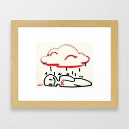 emo rain Framed Art Print