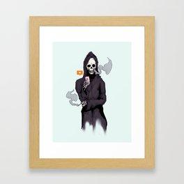 Bored To Death Framed Art Print