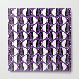 Dots Cardin Purple Metal Print