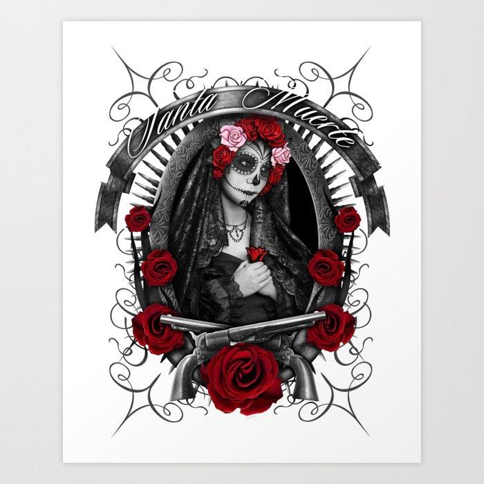 Santa Muerte 1 Art Print By Iliasyvorov Society6