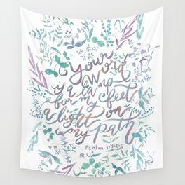 Your Word is a Lamp - Psalm 119:105 Wall Tapestry