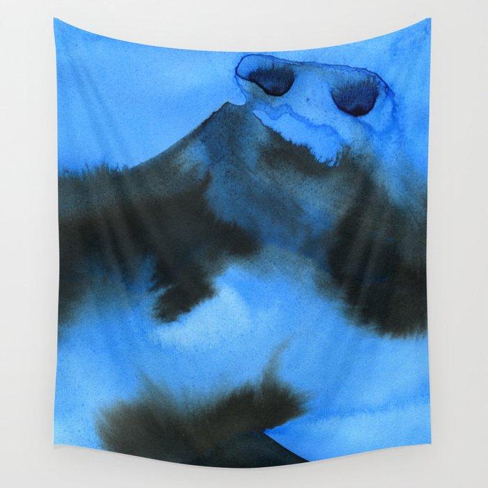 Blue Mountan Dreaming Wall Tapestry