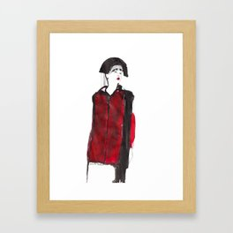 fashion illustration – Belle Sauvage A/W 2013 Framed Art Print