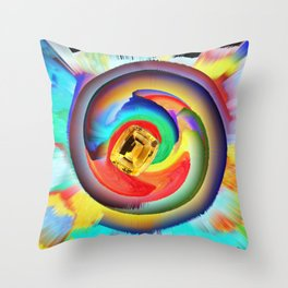 Citrin in Colours Throw Pillow