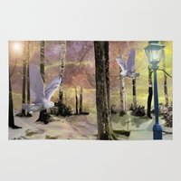 narnia Area & Throw Rugs featuring A story book Christmas by Susie Hawkins