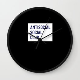 Antisocial Social Club - Introvert Gift Wall Clock