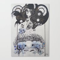 goth Canvas Prints featuring Goth spirit  by Aggelikh Xiarxh
