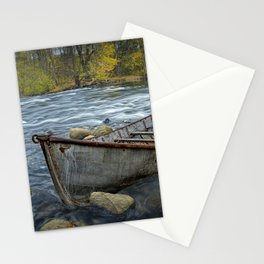 Canoe on the Thornapple River in Autumn Stationery Cards
