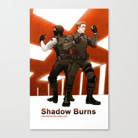 stucky Canvas Prints featuring shadow burns by Hill